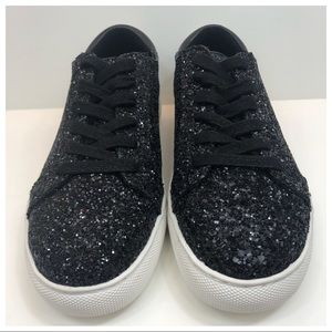 New Kenneth Cole Black Glitter Sneakers Size 6M